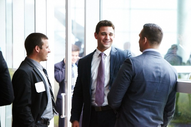 group networking at business conference